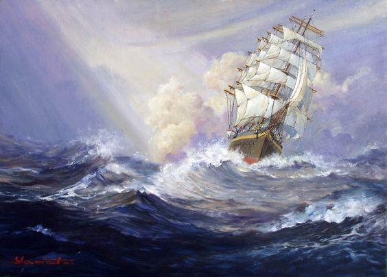 Ship in Violent Storm